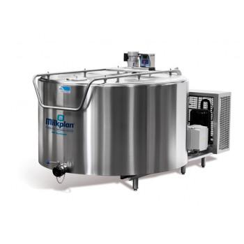 Tanc de racire lapte vertical MILKPLAN MPV 300, cu 2 mulsori, 300 L, 400V